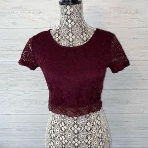 TopShop Lace Crop